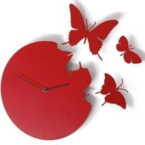 Schmetterling Uhr Rot