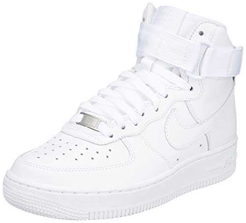 Nike Damen WMNS Air Force 1 High 334031-105 Fitnessschuhe, Weiß (White/White/White 105), 38 EU