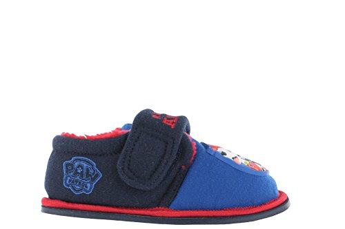 Paw Patrol Lupton Flashing Print Blue & Red Slippers Size 6 (Blue Paw Print)