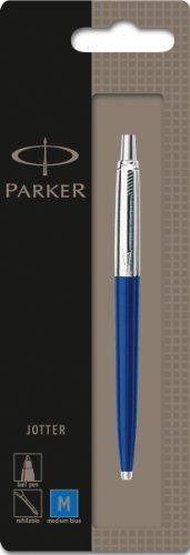 parker-jotter-blue-chrome-trim-ballpoint-pen-blister-pack