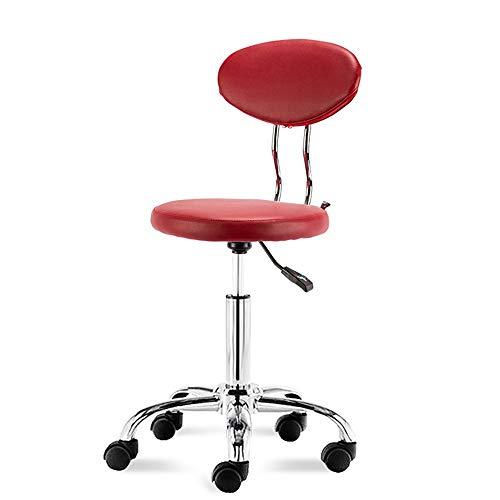 AGLZWY Barhocker Bar Hocker Mehrzweck Metall Komponenten Biegen Rückenlehne Höhe Einstellbar 360 Grad Rotation,Schwarz, Rot (Color : Red, Size : 36x36x44-90cm) -