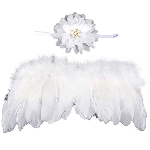 Provide The Best Neugeborene Fotografie Props Kostüm Nette Flügel + Perlen-Stirnband Photo Props Säuglingsbaby-Junge Outfits (Einfachste Kostüm)