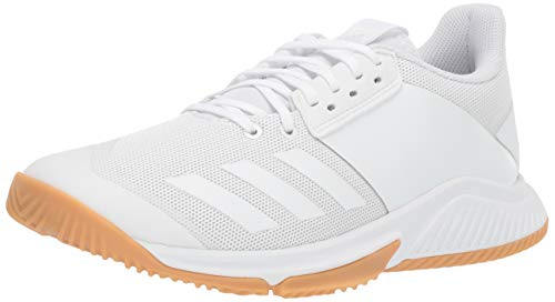 adidas Crazyflight Team - Scarpe da pallavolo da Donna, Bianco (White/White/Gum), 46 EU