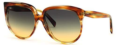Celine Damen Sonnenbrille Braun Tartaruga Miele L