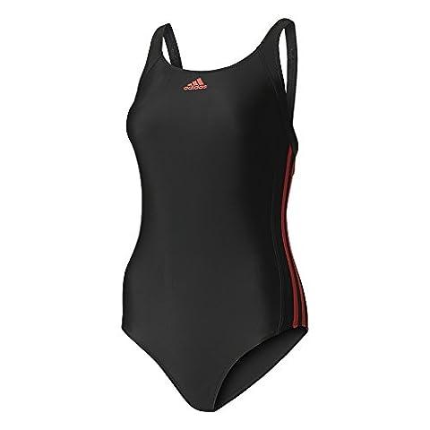 Adidas - Infinitex EC 3bandes - Maillot de bain - Black/Core Pink - 46