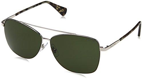 Ralph Lauren Ralph by Damen 0RA4121 316171 59 Sonnenbrille, Silver/Green Solid