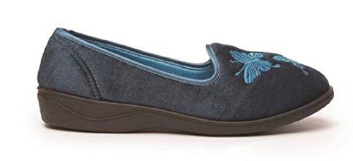 Koo-t, Pantofole Da Donna Serafina Blu Petrolio