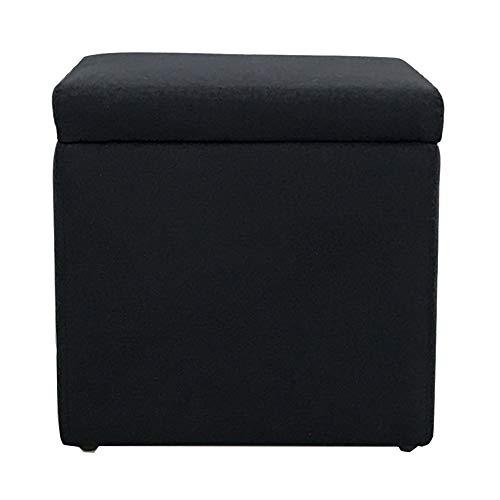 Wangdz Hergestellt aus Stoff und Holz Portable Ottoman Folding Storage Box Storage Hocker, mit abnehmbarem Bezug, geeignet für das Wohnzimmer (Farbe : SCHWARZ, größe : 33 * 33 * 33cm) - Osmanischen Folding Schwarz