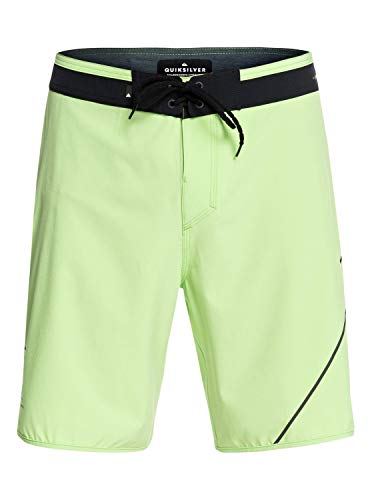 QUIKSILVER Highline New Wave Board Short, Hombre, Jade Lime, 32