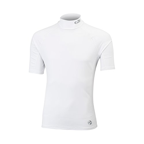 Gill 2017 Mens Respect The Elements Short Sleeved Rash Vest in White 4424 Size - - Small -