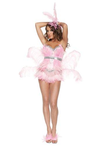 Sexy Pink Flamingo Fancy dress costume (Vegas Showgirl Kostüm)