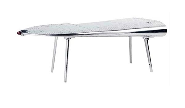casa padrino luxus designer schreibtisch aviator wing right aluminium flugzeug flgel art deco vintage amazonde kche haushalt - Schreibtisch Aus Flugzeugflgel