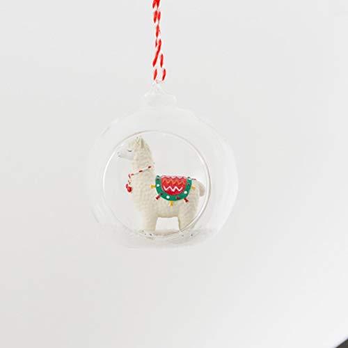 Kinder Weihnachtskugel Christbaumkugel mit Lama