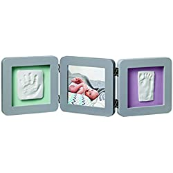 Baby Art Kit de Moulage et d'Empreintes Modern Double Print Frame Gris 34120139