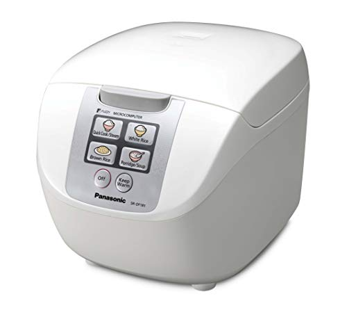 Panasonic sr-df181wxb-Reiskocher/Dampfgarer, Fassungsvermögen 1.8l, 6Modi, 750W, Weiß