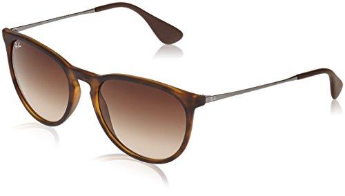 Ray Ban Unisex Sonnenbrille Erika Classic, Mehrfarbig (Gestell: Havana/Gunmetal, Gläser: Braun Verlauf 865/13), 54 mm