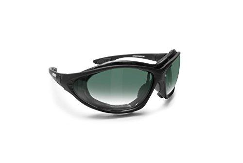 Motorradbrille Schutzbrille Antibeschlag UV Schutz mit Austauschbare Bügel oder Kopfband by Bertoni Italy - FT333B