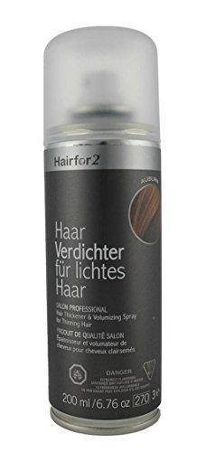 Hairfor2 Haarverdichter Spray, kastanienbraun, 1er Pack, (1x 200 ml)