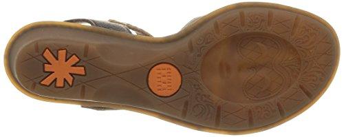 ART VENICE Damen Geschlossene Sandalen mit Keilabsatz Braun (Moka)