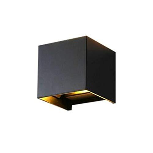LSLY Outdoor LED Wandleuchte, IP68 wasserdicht und dimmbar Endeswinkel für Wohnzimmer Garten Halle Treppe Weg Villa,Black,B -