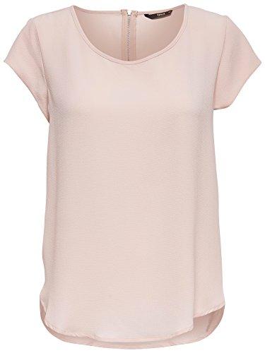 Only Damen T-Shirt Onlvic S/S Solid Top Marken-Designer-Bluse Gr.34-42, Größe:38, Farbe:Rosa