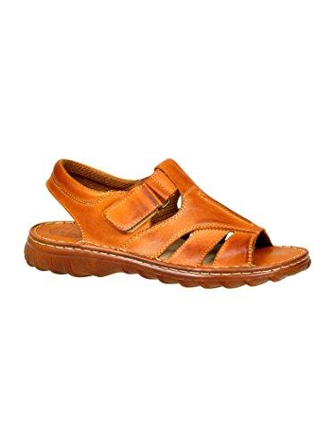 Herren Bequeme Sandalen Schuhe Mit Der Orthopadischen Einlage Aus Echtem Buffelleder Hausschuhe Modell 835 Kognak