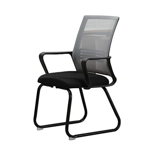 (HWH- Schlafsaal Stuhl, Lehrer Student Chair Schlafzimmer Wohnzimmer Studie Stuhl Komfortable Soft Breathable Durable Computer Stuhl Computerstuhl (Farbe : Gray))