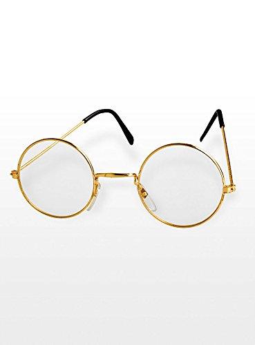 KBO13418 Brille Oma / Opa gold ohne (Brille Oma)