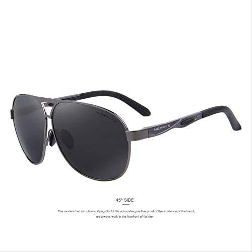 MJDL Männer Klassische Marke Sonnenbrille Hd Polarisierte Aluminium Sonnenbrille Emi Defending Coating Lens Driving Shades C02 Grau