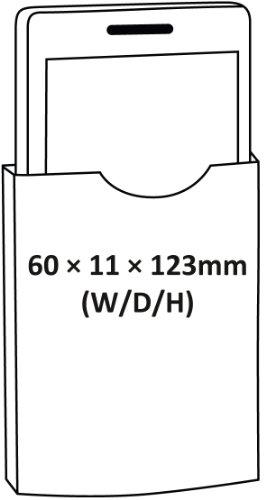 Cellux Mikrofaser Tasche Größe M (Apple iPhone 3G/3GS/4/4S, Galaxy S 3 mini, HTC Desire S, Nokia 620 und weitere Geräte) schwarz waves gelb