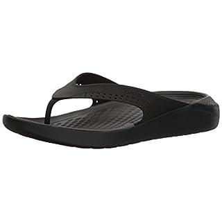 crocs Unisex-Erwachsene Literide Flip Zehentrenner, Schwarz (Black/Slate Grey 0dd), 45/46 EU