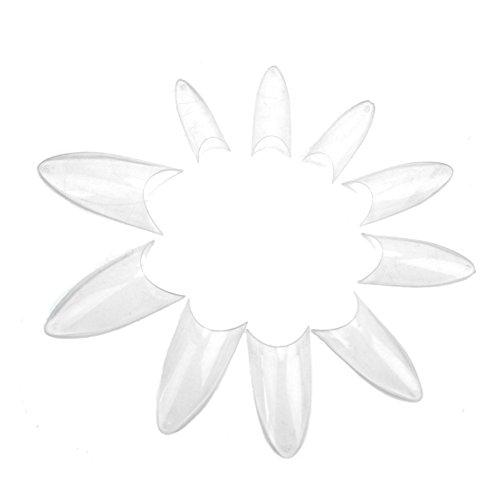 100x Capsules Conseil Faux Ongles Plastique Manucure Nail Beauté Art Transparent