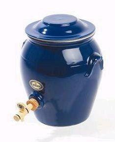 DIGOIN CERAMIQUES Vinaigrier bleu en grès 4 L - PVR03BI