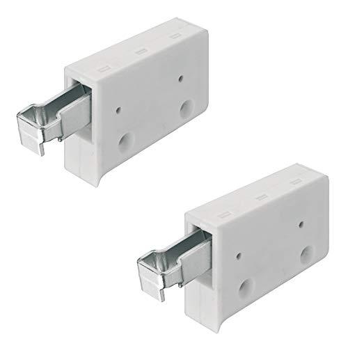 Gedotec Schrankaufhänger Oberschrank Schrank-Aufhängung weiß | Schrankhalter zum Schrauben | Tragkraft 150 kg | Stahl verzinkt | Halterung für Hänge-Schränke | 2 Stück - Aufhänger für Küchenschränke