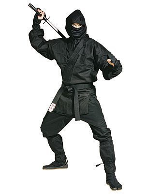 Martial Arts Black Full Ninja Uniform - 180cm by Playwell