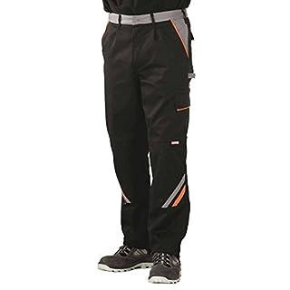 Planam Arbeitshose / Bundhose Visline in vielen Farben und Größen! (48, schwarz-orange-zink)