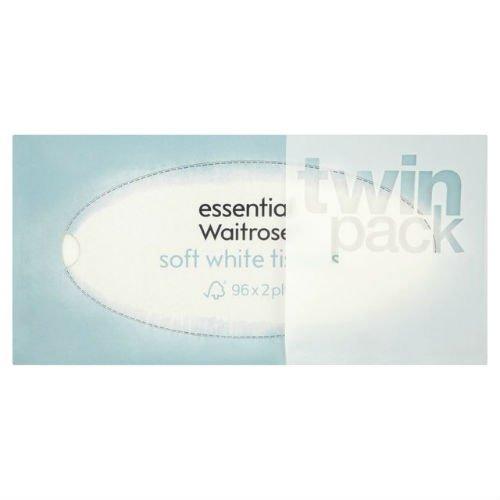 Regular weichen, weißen Gewebe Essential Waitrose 2x 96Pro Pack Fall von 4