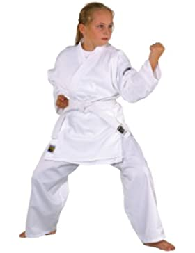 KWON Karate basic - Kimono de artes marciales infantil, tamaño 140 cm, color blanco