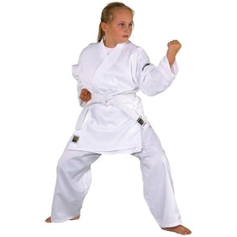 KWON Karate basic - Kimono de artes marciales infantil, tamaño 90 cm, color blanco