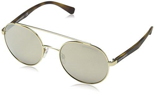 Emporio Armani Herren 0ea2051 Sonnenbrille, Matte Pale Gold, 53