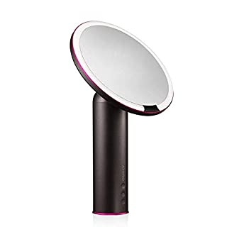 Amiro 8 inch Smart Lighted Vanity Makeup Mirror with Brightness Control,Rechargeable