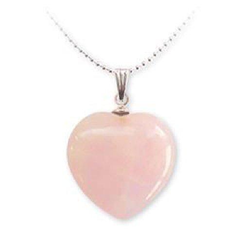 Ciondolo a forma di cuore, quarzo rosa - Quarzo Rosa Cuore
