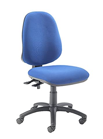 Office Hippo 3 Lever High Back Office Chair, Fabric - Royal Blue