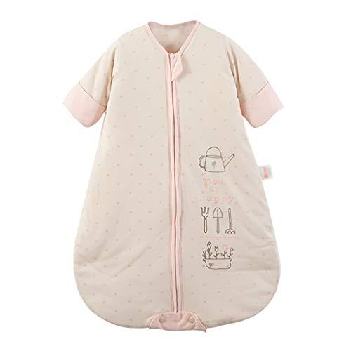 Huyp sacco a pelo bebè a maniche lunghe invernale trapuntato bebè monopezzo anti-grido fumetto in cotone baby nido (dimensioni : 66 yards)