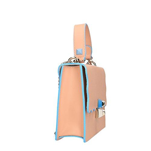 Chicca Borse Borsa a mano in pelle 26x18x8 100% Genuine Leather Rosa
