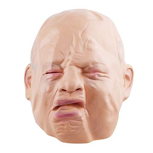 Ellepigy Neuheit Latex Cry Baby Gesicht Kopf Maske Halloween Christmas Party Kostüm Dekorationen Erwachsenen Zubehör, Cry Face