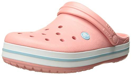 Crocs Unisex-Erwachsene Crocband Clogs, Pink (Melon-Ice Blue 7h5), 38-39 EU