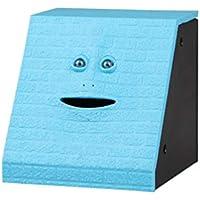 Dinero Comer Cara Caja Lindo Facebank Piggy Coins Bank Dinero divertido Moneda de ahorro Banco Juguetes para niños Decoración del hogar - Ladrillo azul