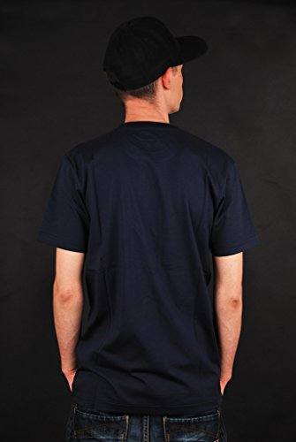 Cleptomanicx Leaf Möwe T-Shirt Dark Navy