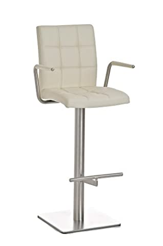 CLP Modern stainless steel bar stool with back and arms